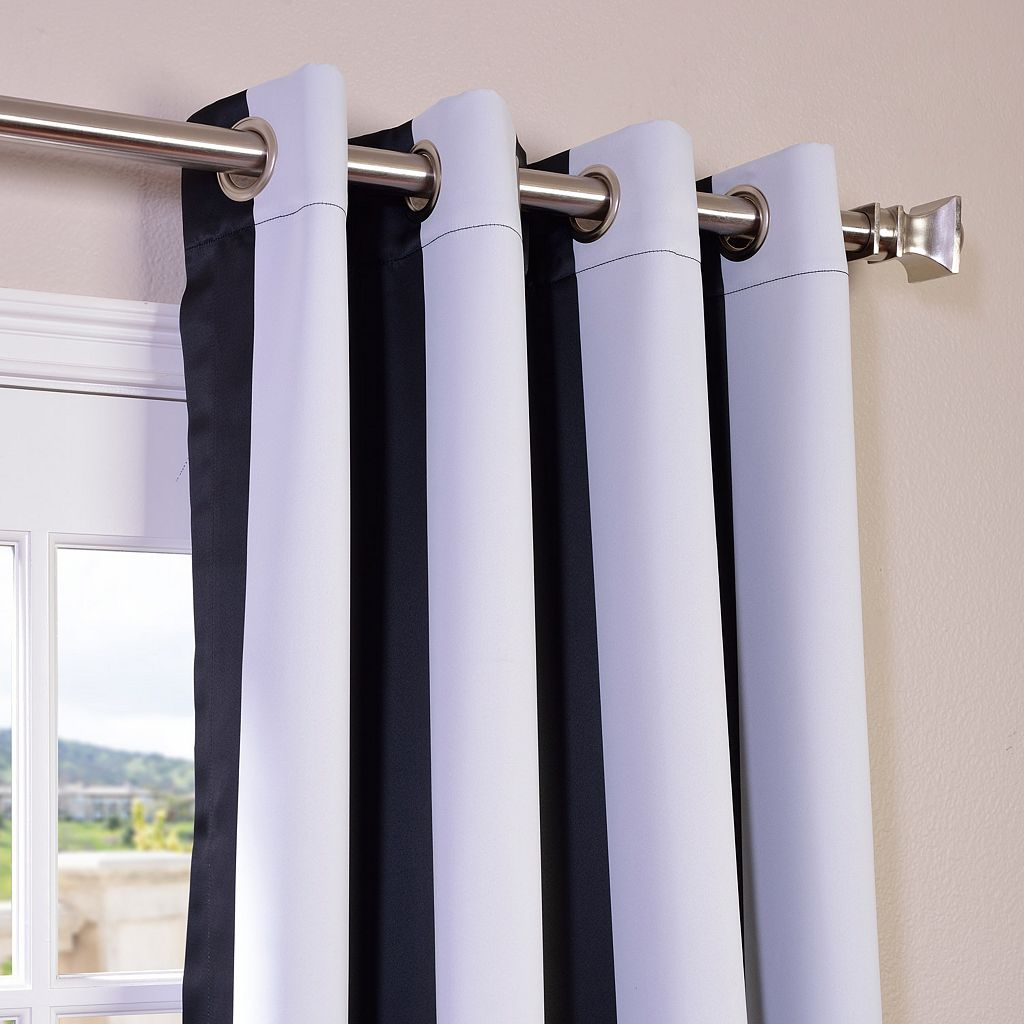 EFF Awning Striped Blackout Window Curtain - 50'' x 96''