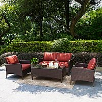 Crosley Outdoor Kiawah 4-pc. Outdoor Wicker Seating Set
