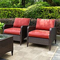 Crosley Outdoor Kiawah 2 pc Outdoor Wicker Seating Set
