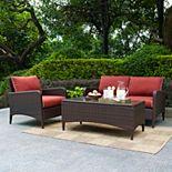 Crosley Outdoor Kiawah 3-pc. Outdoor Wicker Seating Set