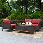 Crosley Outdoor Kiawah 3 pc Outdoor Wicker Seating Set