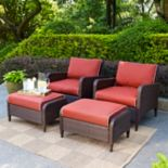 Crosley Outdoor Kiawah 4 pc Outdoor Wicker Seating Set