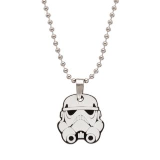 Star Wars Stainless Steel Stormtrooper Glow-in-the-Dark Pendant Necklace