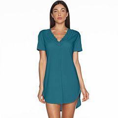 Women's COSABELLA Amore Pajamas: Love Lace-Trim V-Neck Sleep Shirt