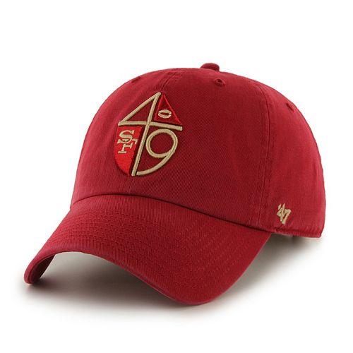 Adult '47 Brand San Francisco 49ers Legacy Clean Up Adjustable Cap