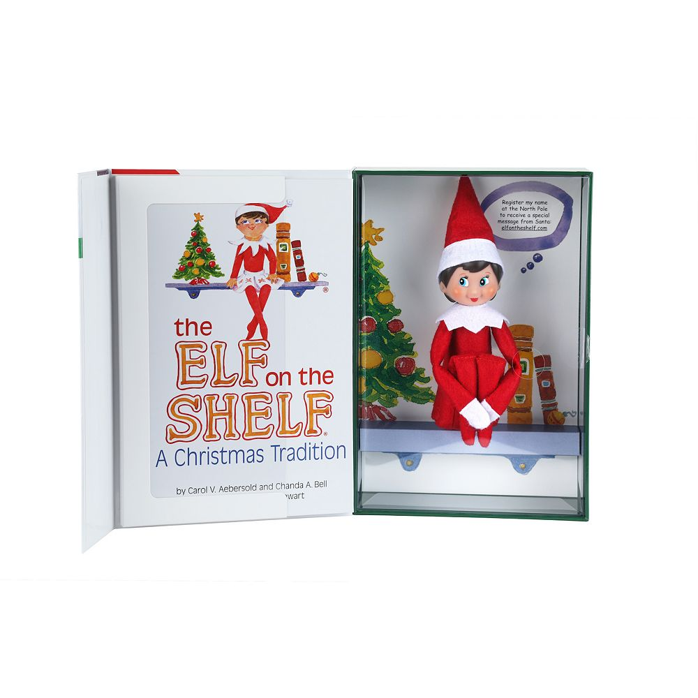 The Elf on the Shelf®: A Christmas Tradition Book & Blue-Eyed Girl ...