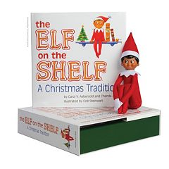 The Elf on the Shelf®: A Christmas Tradition Book & Brown-Eyed Boy Scout Elf