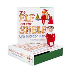 The Elf on the Shelf®: Una Tradición Navideña Spanish Language Book & Blue-Eyed Boy Scout Elf