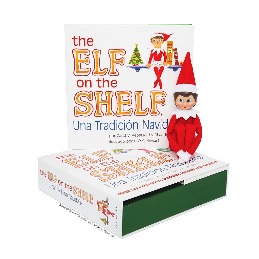 The Elf on the Shelf®: Una Tradición Navideña Spanish Language Book & Blue-Eyed Girl Scout Elf