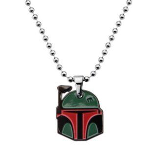 Star Wars Stainless Steel Boba Fett Pendant Necklace