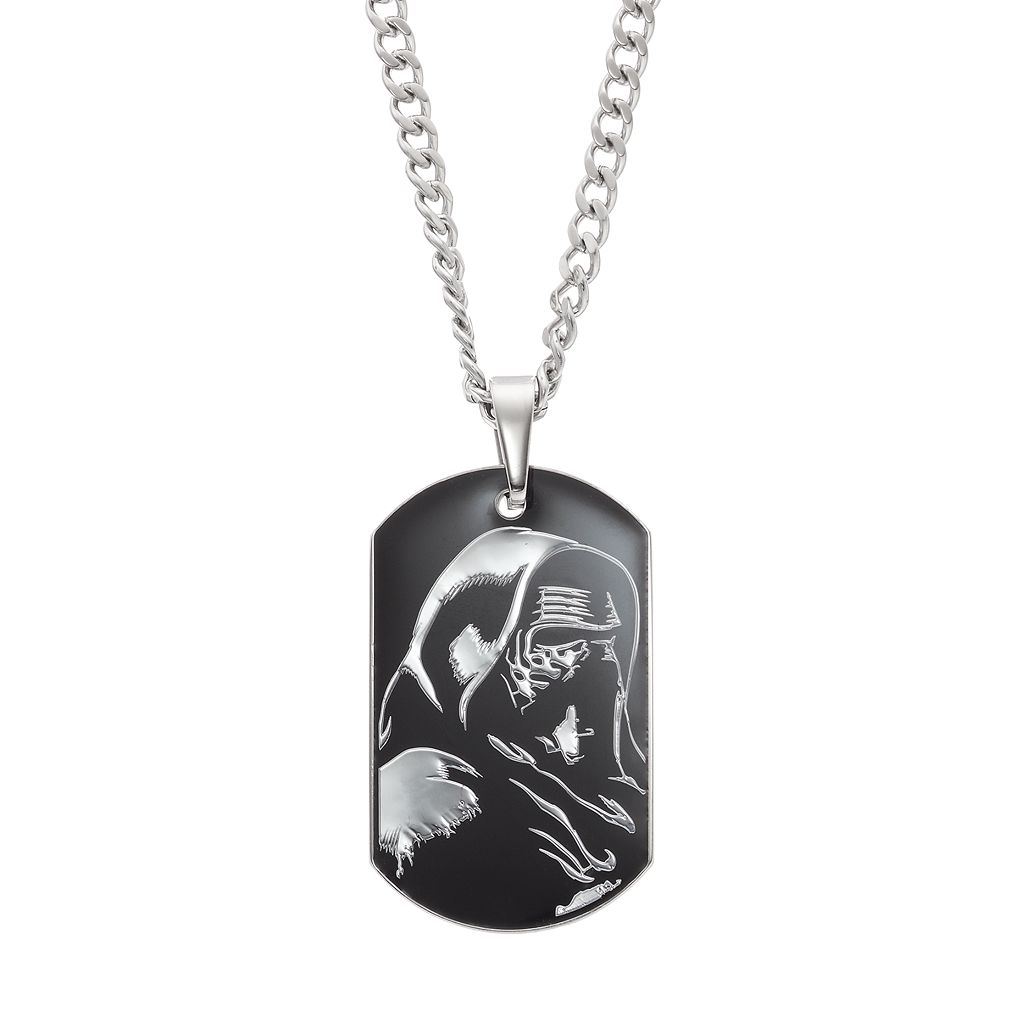 Star Wars: Episode VII The Force Awakens Men's Stainless Steel Kylo Ren Dog Tag Necklace
