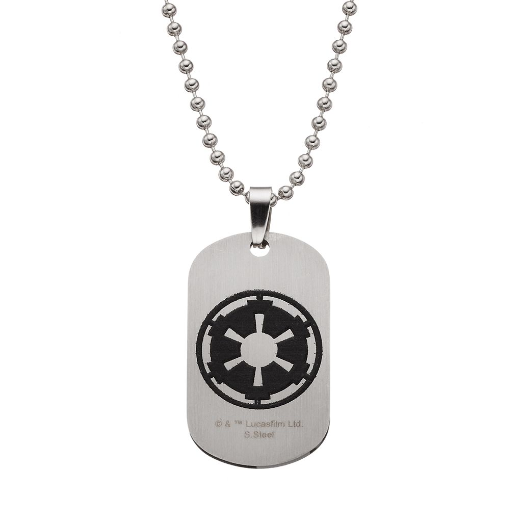 Star Wars Stainless Steel Darth Vader Dog Tag Necklace