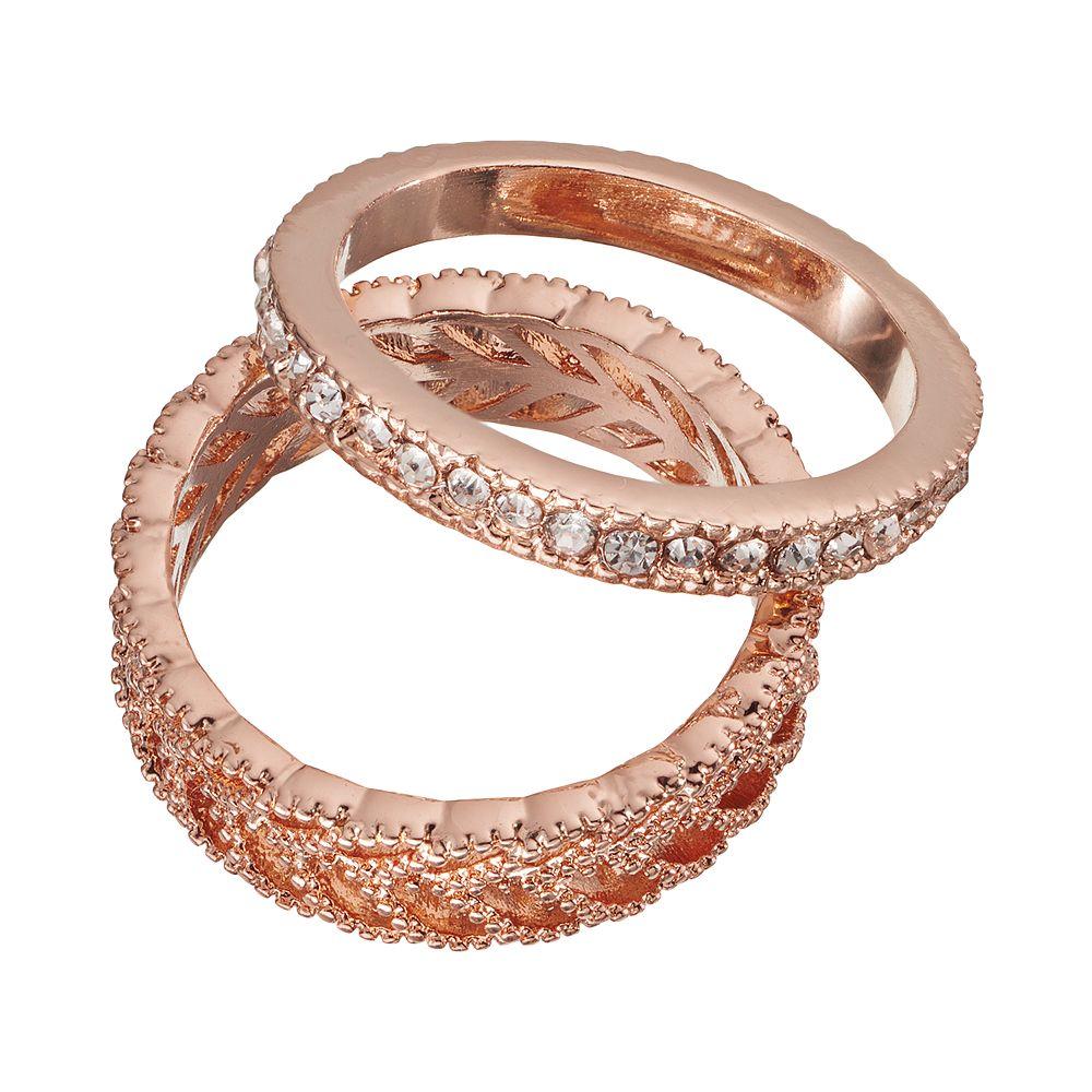 lc lauren conrad leaf ring set - Lauren Conrad Wedding Ring