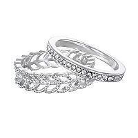 LC Lauren Conrad Leaf Ring Set