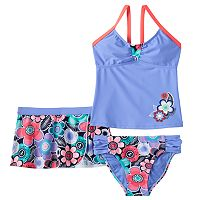 Girls 7-16 ZeroXposur Floral Tankini Swimsuit & Shorts Set