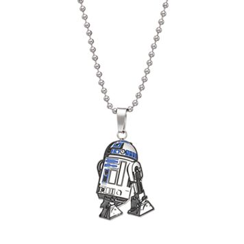 Star Wars Stainless Steel R2-D2 Pendant Necklace