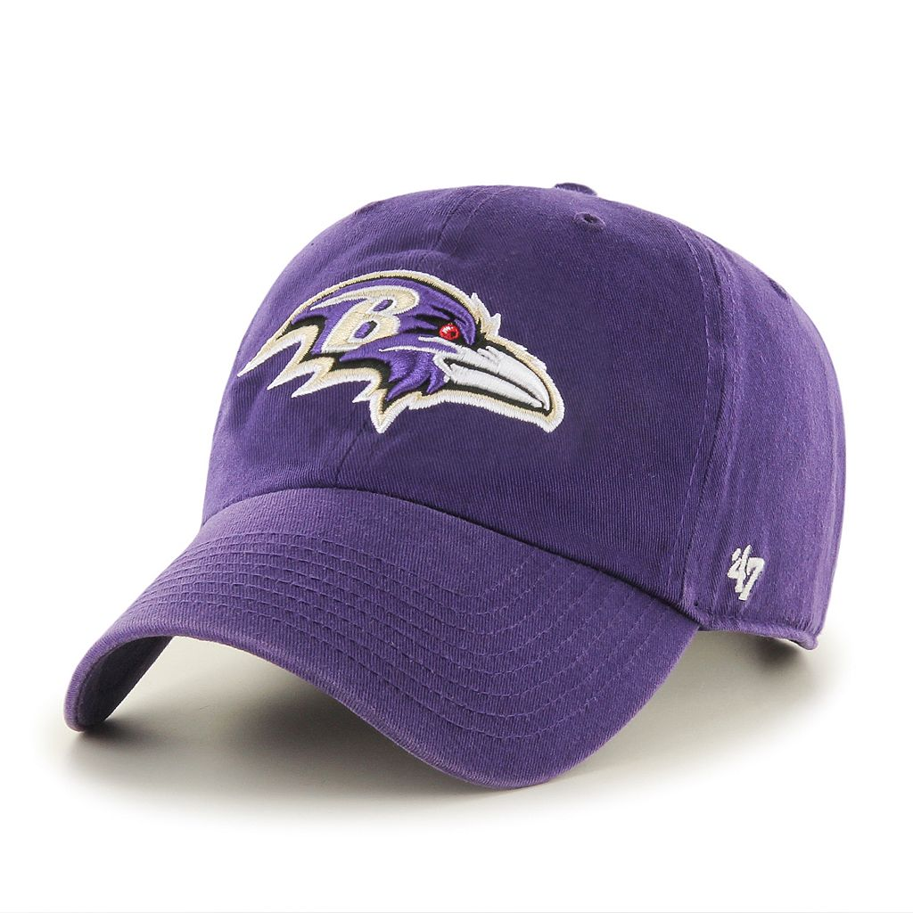 Adult '47 Brand Baltimore Ravens Clean Up Adjustable Cap