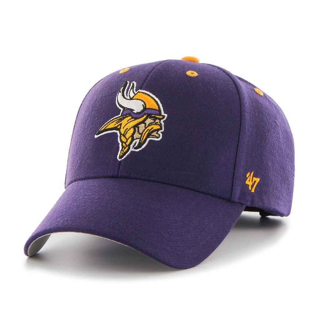 Adult '47 Brand Minnesota Vikings Audible MVP Adjustable Cap