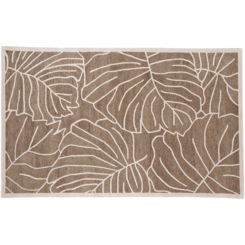 Artisan Weaver Island Leaf Wool Rug