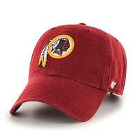Adult '47 Brand Washington Redskins Clean Up Adjustable Cap