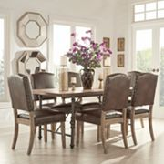 HomeVance Brookdale 7 pc Table and Chair Dining Set