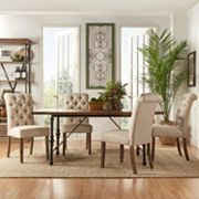 HomeVance Blanche 5 pc Table and Chair Dining Set