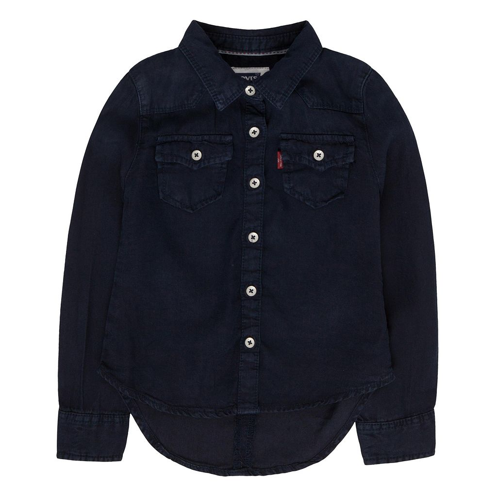 Girls 4-6x Levi's Blue Western Denim Top