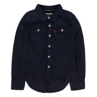 Girls 4-6x Levi's Blue Western Denim Top