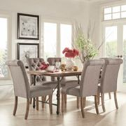 HomeVance Blanche 7 pc Table and Chair Dining Set