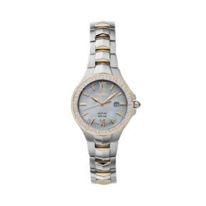 Seiko Women's Coutura Diamond Two Tone Stainless Steel Solar Watch - SUT240