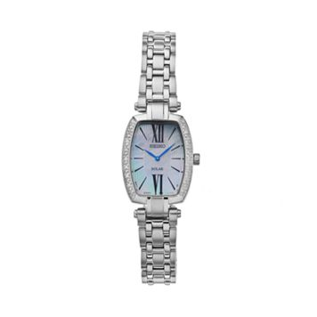 Seiko Women's Tressia Diamond Stainless Steel Solar Watch - SUP283