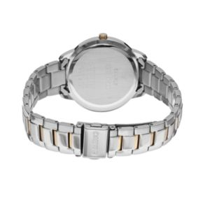 Seiko Women's Recraft Crystal Two Tone Stainless Steel Solar Watch - SUT246