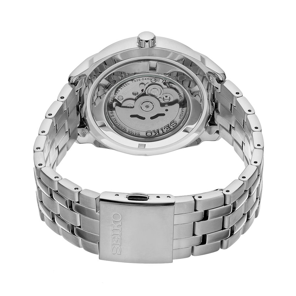 Seiko Men's Recraft Stainless Steel Automatic Skeleton Watch - SNKN47