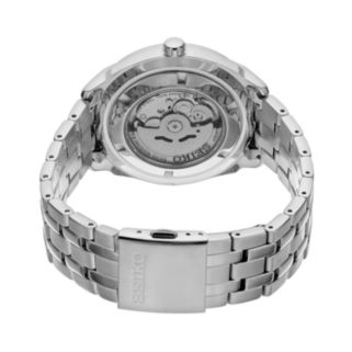 Seiko Men's Recraft Stainless Steel Automatic Skeleton Watch - SNKN47
