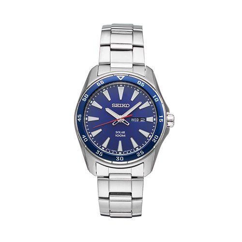 Seiko Men's Core Stainless Steel Solar Watch - SNE391