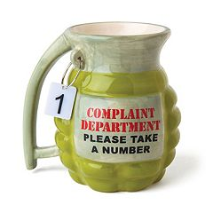BigMouth Inc. 'Complaint Department' Grenade Coffee Mug