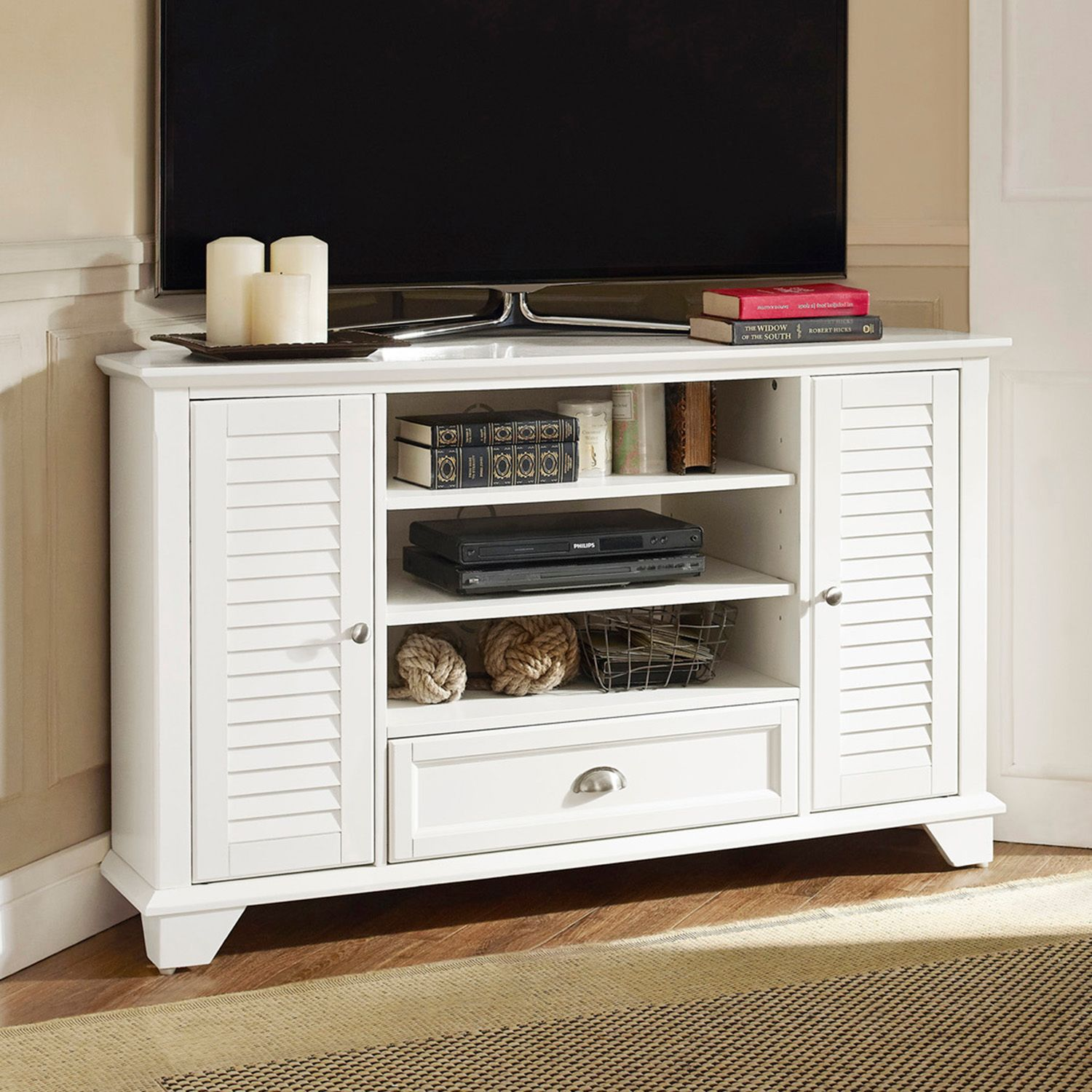crosley furniture palmetto 50inch corner tv stand