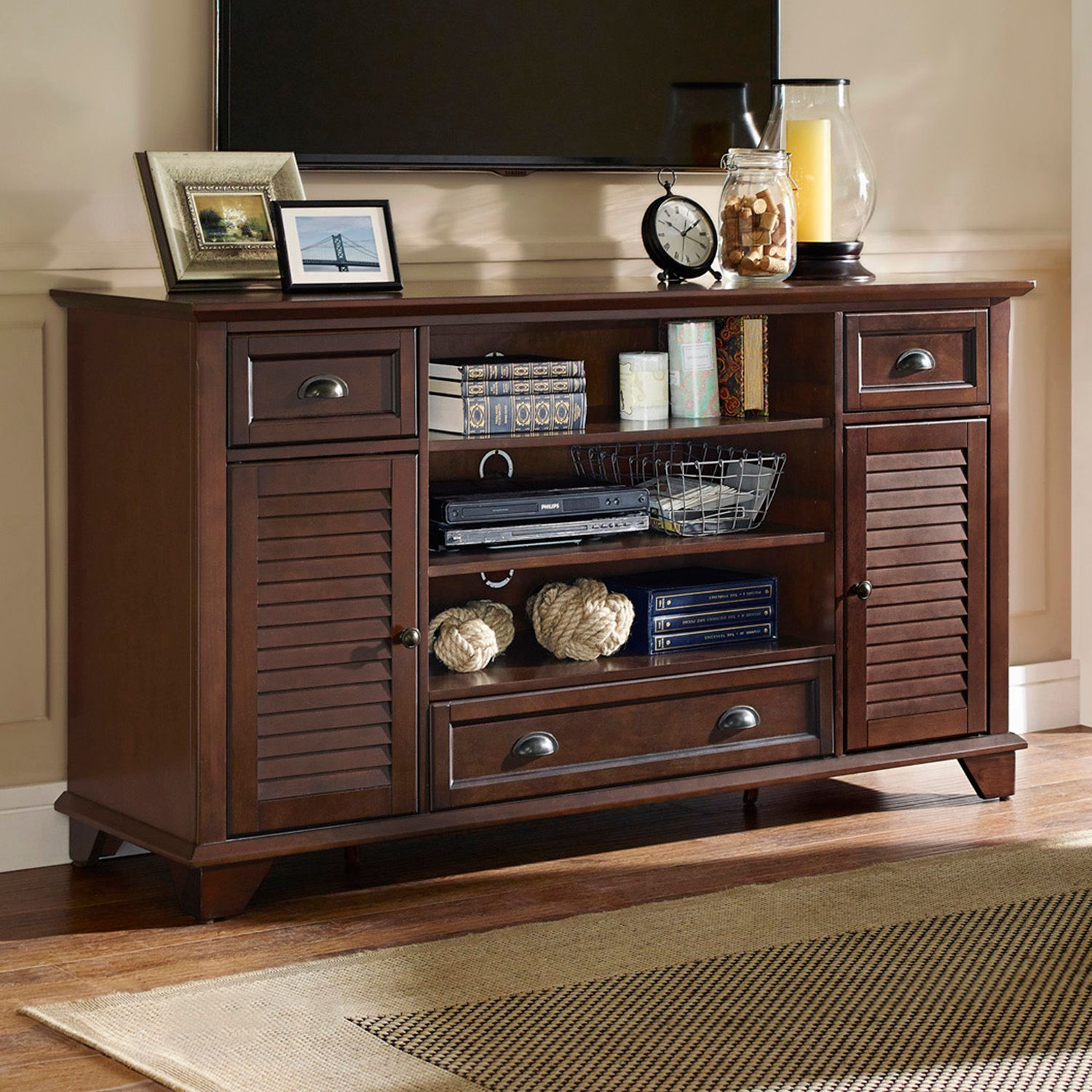 Crosley Furniture Palmetto 60 Inch Full Size TV Stand