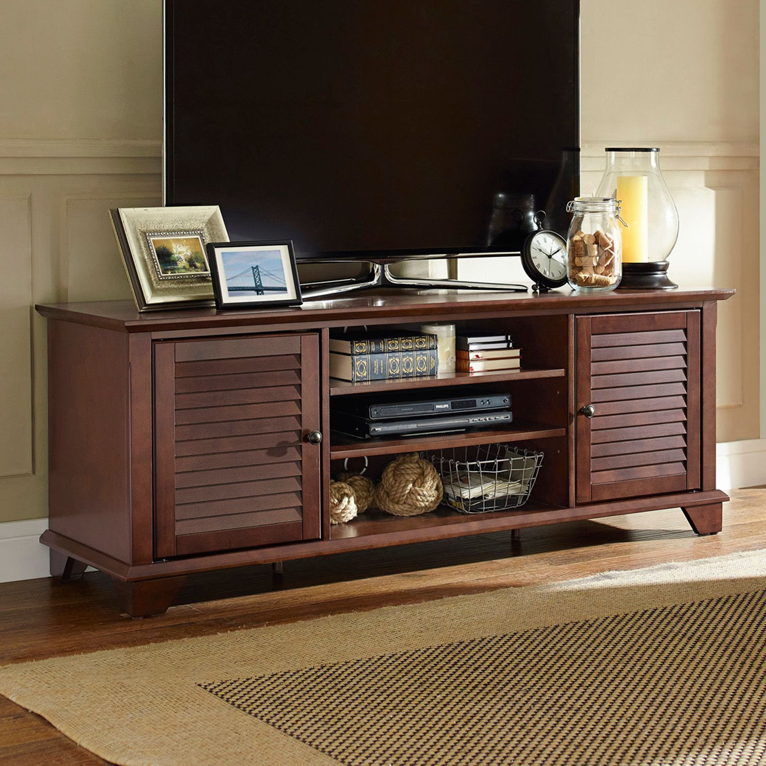 crosley furniture palmetto 60inch low profile tv stand
