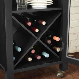Crosley Furniture Jefferson Decorative Tray & Portable Bar 2-piece Set