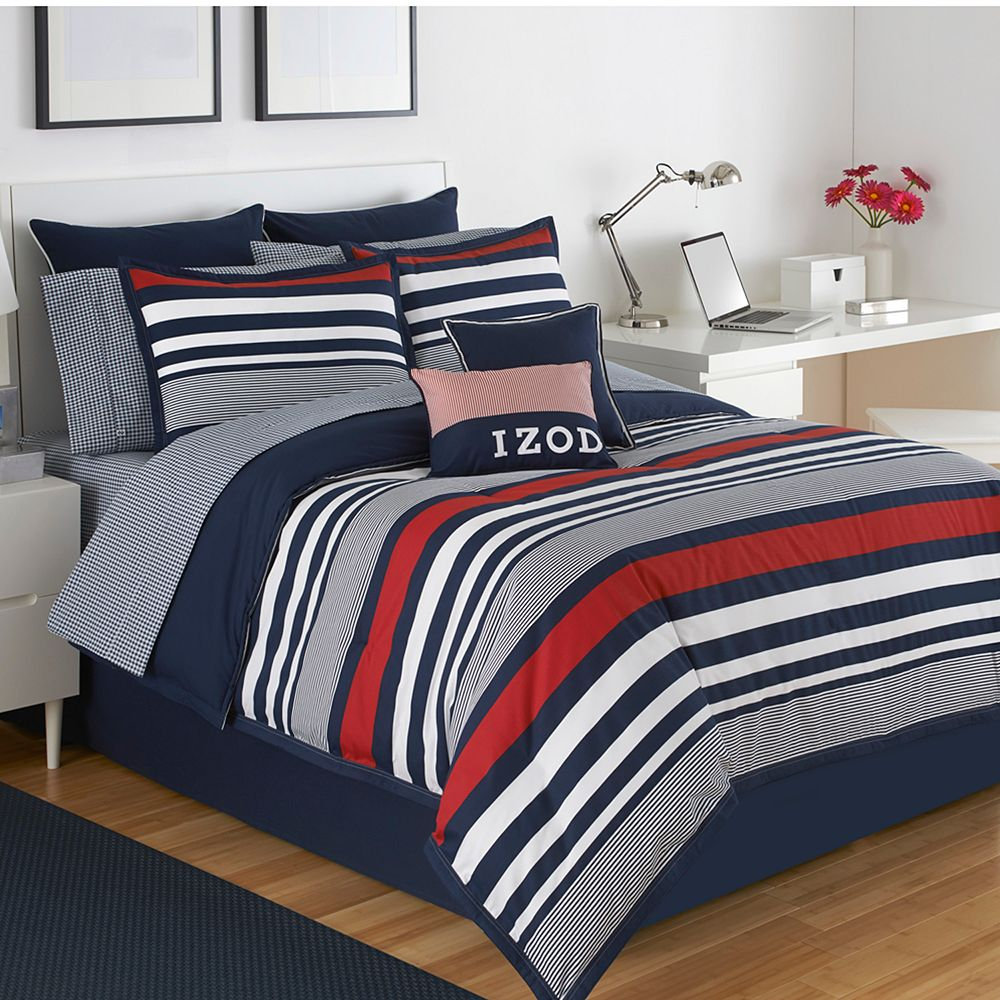 Kohls Bedroom Furniture Izod Varsity Stripe Bedding Collection