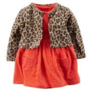 Carter's Crochet Bodysuit Dress & Cardigan Set - Baby Girl