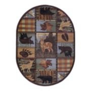 KHL Rugs Colorblock Wildlife Lodge Rug