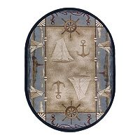 KHL Rugs Nature Seashore Nautical Lodge Rug
