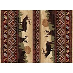 KHL Rugs Nature Misty Elk Lodge Rug