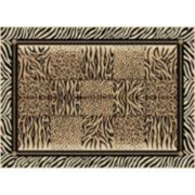 KHL Rugs Savannah Framed Animal Print Rug