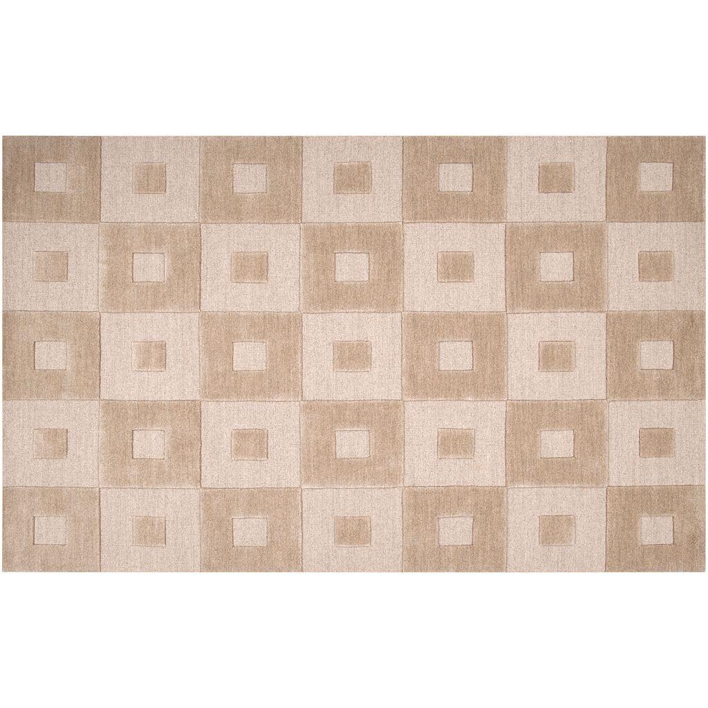 Artisan Weaver Mustang Squares Wool Rug