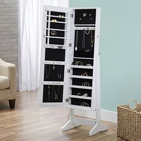 InnerSpace Cheval Mirror Floor Jewelry Armoire   null