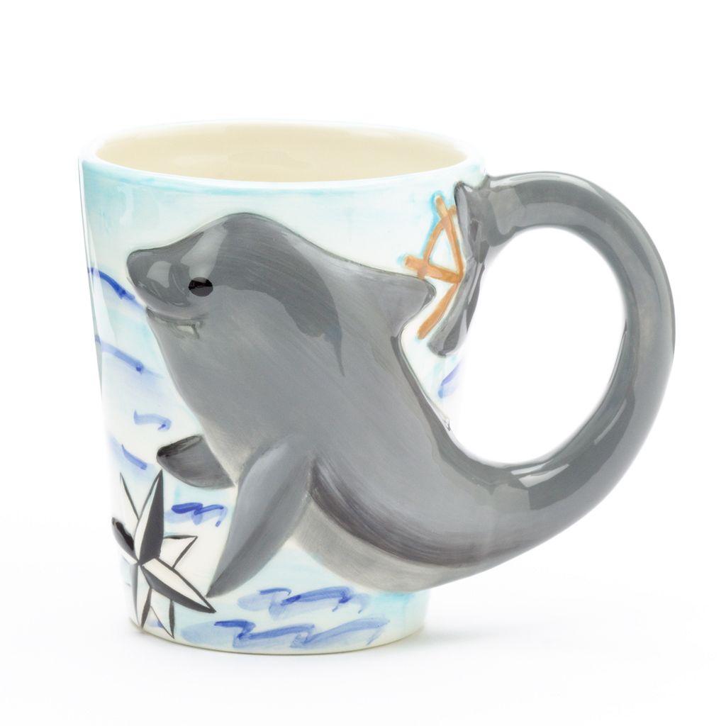 Certified International 16-oz. 3D Dolphin Mug