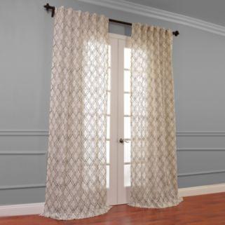 EFF Saida Embroidered Sheer Window Curtain - 50'' x 120''
